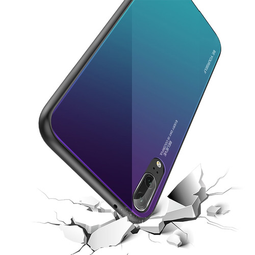 GerTong Gradient Tempered Glass Phone Case For Huawei Mate 20 10 P20 Pro Lite Nova 3i 2i 3 3E Coque Capa For Honor 8X Cover Case