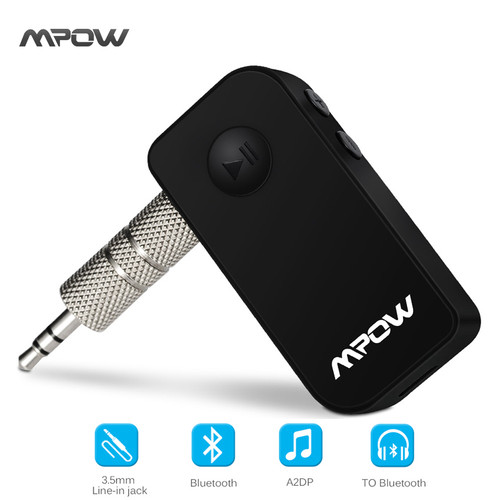 Original Mpow wireless Bluetooth 4.1 receiver Handsfree 3.5mm Car Audio Music Streaming Receiver Adapter Speaker car speaker