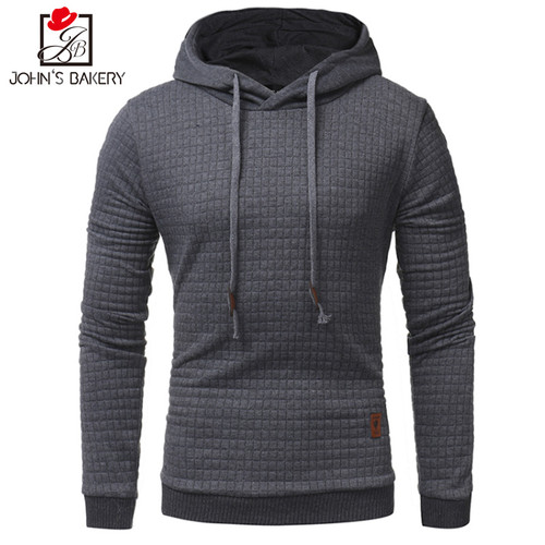 2017 New High-End Casual Hoodie Men'S Hot Sale Plaid Jacquard Hoodies Fashion Military Hoody Style Long-Sleeved Men Sweatshirt