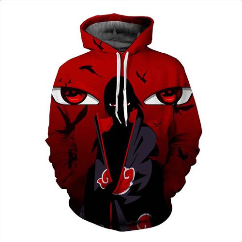 2017 new large size 3D Hoodie Naruto anime Uchiha Itach men women Hoodies Sweatshirts 3d hoodie Sweatshirt for men