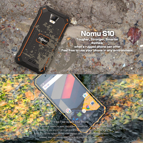 "NOMU S10 IP68 Waterproof 4G LTE Smartphone Android 6.0 5000mAh Quad Core MTK6737 5.0"" 2GB RAM 16GB ROM Mobile Phone"