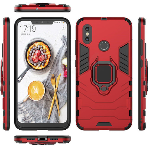 H&A Luxury Armor Shockproof Case For Xiaomi 5X 6X A1 A2 Magnetic Ring Phone Cover For Xiaomi Mi 8 SE Protective Case With Holder
