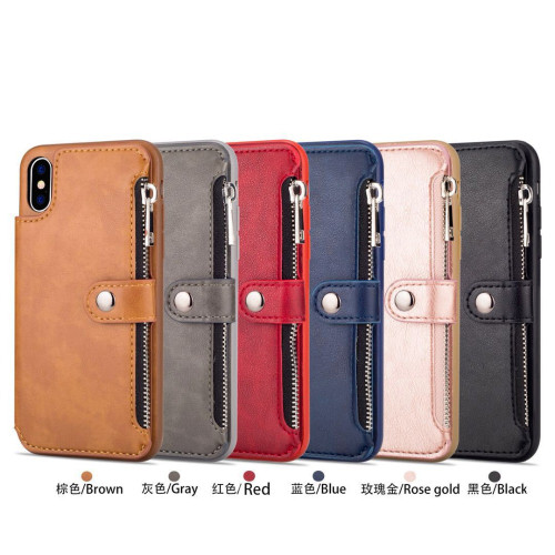 PU Leather Zipper Case For iPhone 8 Plus 7 6 s Plus X(10) Wallet Flip Stand Cover For iPhone 7 Plus 6 6s Phone Cases Shell EEMIA