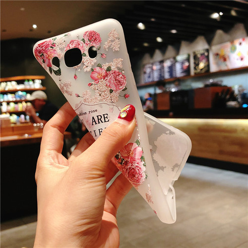 USLION Flower Phone Case For Samsung Galaxy S9 S8 Plus S7 Edge A3 A5 A7 J3 J5 J7 2017 Series Note 9 8 Clear Soft TPU Cover Cases