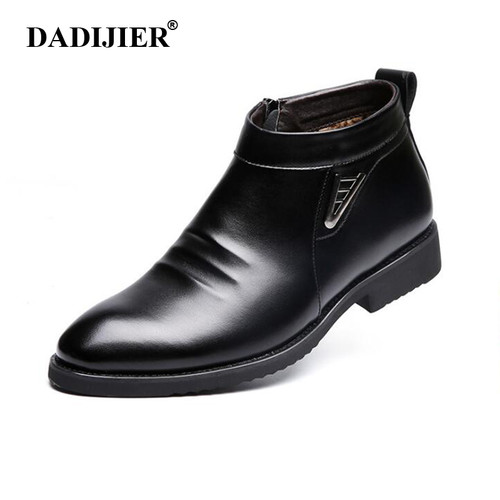 2018 Autumn Winter vlevet Retro Men Boots Comfortable Zipper Brand Casual Shoes Split Leather Snow Boots shoes ST91 Imported