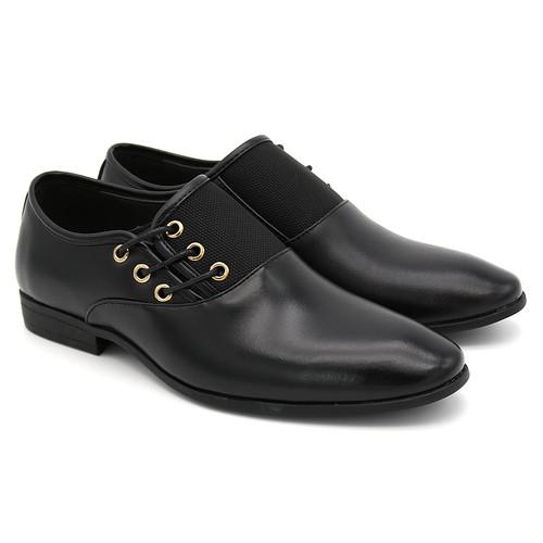 Big Size 6.5-12 New Fashion Men Wedding Dress Shoes Black Shoes Round Toe Flat Business British Lace-up Men's shoes