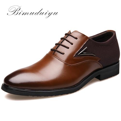 Business Men's Basic Flat Super fiber Leather Gentle Wedding Dress Shoes Luxury Brand Formal Wearing British Big Size Imported