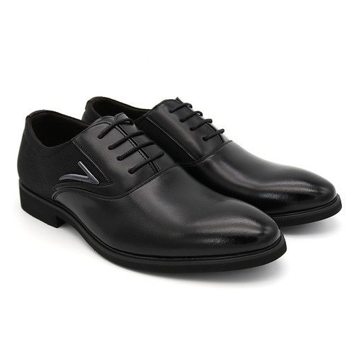 Business Men's Basic Flat Super fiber Leather Gentle Wedding Dress Shoes Luxury Brand Formal Wearing British Big Size  Imported