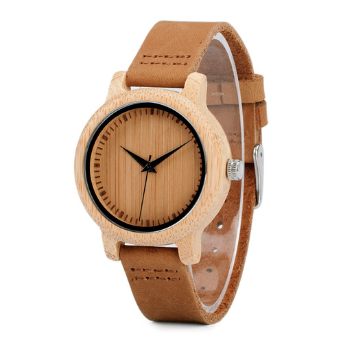 BOBO BIRD A09 Ladies Casual Quartz Watches Natural Bamboo Watch Top Brand Unique Watches For Couple in Gift Box