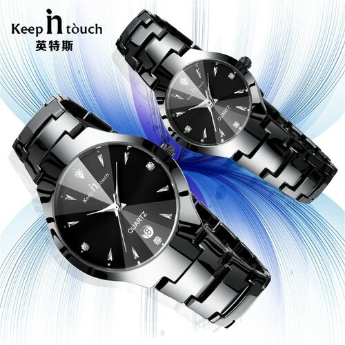 2018 Luxury Brand Lover Watch Pair Waterproof Noctilucent Men Women Couples Lovers Watches Set Wristwatches Relogio Feminino