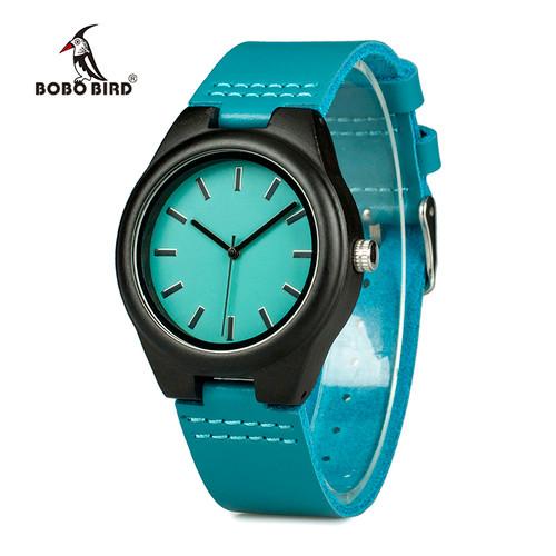 BOBO BIRD Handmade Ebony Wooden Lover's Watches New Brand Designer Cool Nature Wood Quartz Clock in Gift Box Accept Customize