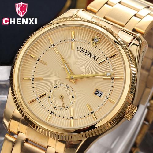 Luxury Women Men Couple Watches Top Brand CHENXI Waterproof Stainless Steel Lover's Wristwatch Calendar Quartz Casual Clock Gift