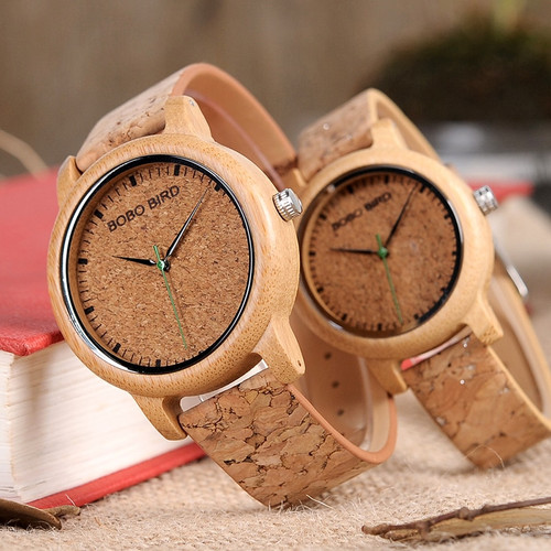 BOBO BIRD Couple Watch Men Bamboo Quartz Wristwatches Wooden Wood Watches for Women as Gift relogio masculino