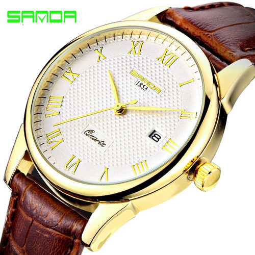 Luxury Men's Watch Fashion Quartz Watch Waterproof Man Watches Brand Luxury Relojes Hombre Leather Relogios masculinos