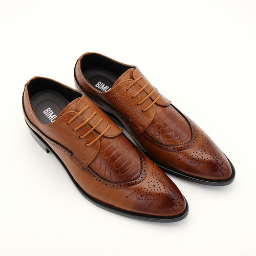Imported Size 47 48 Fashion Mens Formal Dress Shoes Pointed Toe Bullock Oxfords Shoes Lace Up Designer Luxury Men Shoes