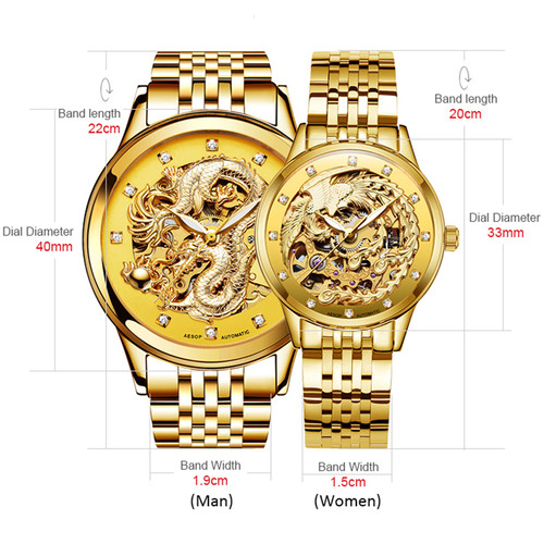 AESOP Lovers Watch Men Women Mechanical Automatic Wrist Wristwatch Couple Male Ladies Clock Relogio Masculino Montre Femme 46