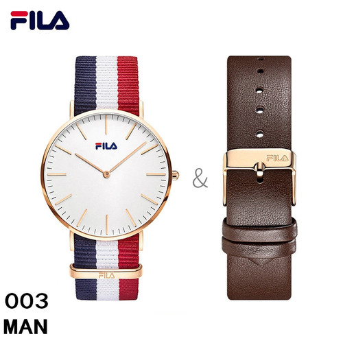 Fila High Quality Luxury Top Brand Fashion Casual Auto Date Leather Strap Men Watch Women Watch Quartz Wristwatch 778