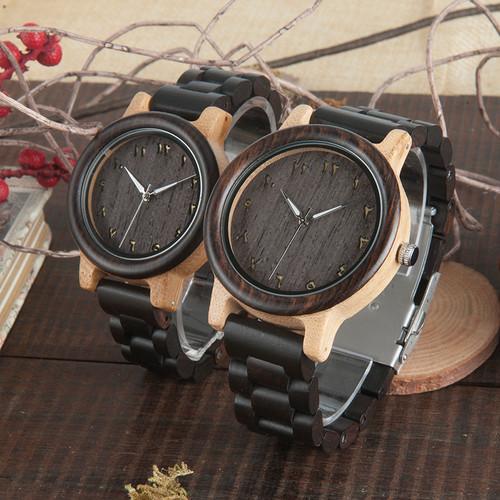 BOBO BIRD Brand Fashion Men Watch All with Wood Watches Handmade Wooden Band Wristwatch relogio masculino