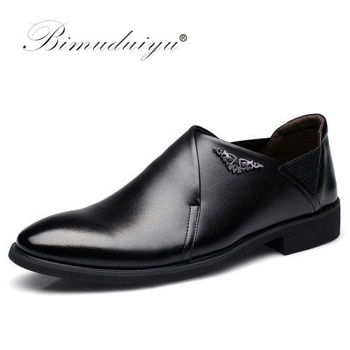 Imported Men Dress Slip-on Black/Brown Oxford Shoes Fashion Casual Style Male Leather Pointed Toe Party And Wedding Shoes