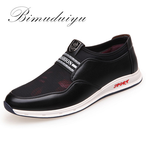 Fashion Slip-On Men Casual Shoes Microfiber Leather + Mesh cloth Comfortable Breathable Flat Shoes sneakers