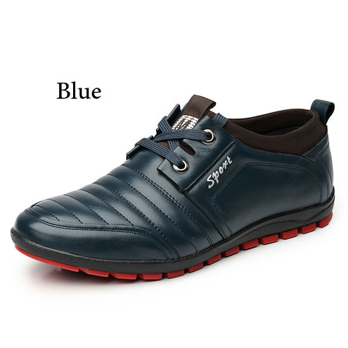 Brand New Fashion Soft Leisure PU Leather  Driving Shoes  Daily Breathable Flat Casual Shoes Sneakers
