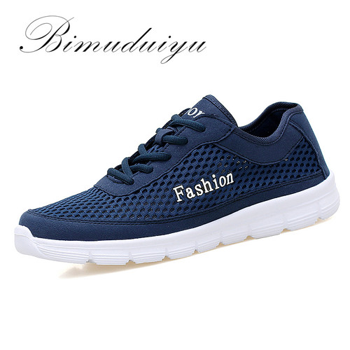Imported Size 38-48 Mens Fashion Comfortable Breathable Mesh Shoes Lightweight Casual Nets Cool Flats Tenis Masculino Adulto