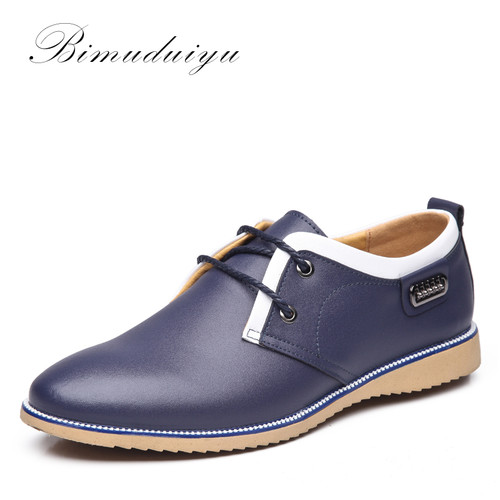 Imported Fashion Stitching Men's Spring Casual Shoes Quality Cow Split Leather Dress Suits Wedding Shoe Young Style