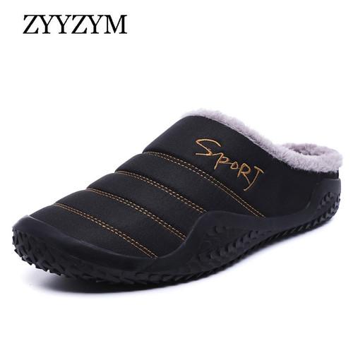 ZYYZYM Men Slippers 2020 Winter Plush Keep Warm New Fashion Light Home Furnishing Cotton Slipper Large size