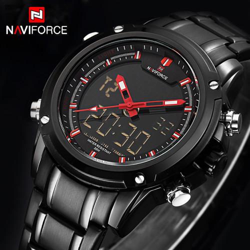 Top Luxury Brand NAVIFORCE Men Military Waterproof LED Sport Watches Men's Clock Male Wrist Watch