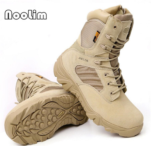 Men's Desert Camouflage Military Tactical Boots Men Outdoor Combat Army Boots Botas Militares Sapatos Masculino