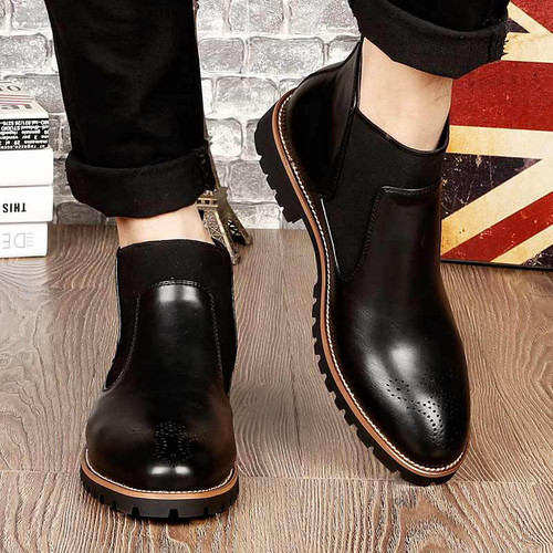2018 Spring Summer Casual Men Boots Plus Size Solid Casual Short Men Boots  RQ001