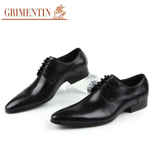 GRIMENTIN Brand Italian mens formal shoes genuine leather comfortable high quality wedding shoes male 2017