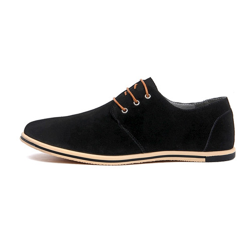 DXKZMCM Handmade  Men Leather Shoes Brand Casual Comfortable Formal Dress Shoes Men Flats