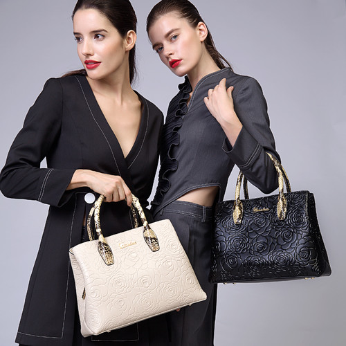 Elegant pattern genuine leather bag tote 2018 ZOOLER handbag women bag cowhide leather shoulder bags  bolsa feminina #5002