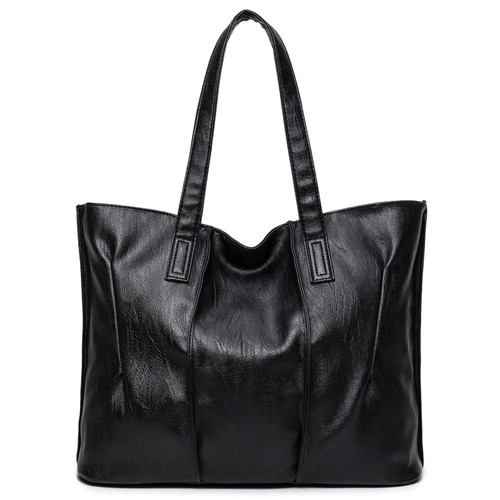 2018 New Arrival Women Bags Large Capacity Female Shoulder Bags High Quality PU Leather Women Handbags Luxury Solid Tote Bags