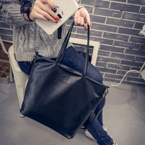 Fashion Tote Women PU Leather Handbag Casual Style Big Tote Bag High Quality Female Large Shoulder Bags High Capacity
