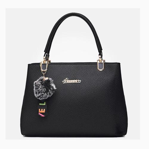 Women Bag Vintage Messenger Bags Shoulder Handbag Women Top-Handle Leather Imitation Pattern Composite Bag Purse Wallet With Fur