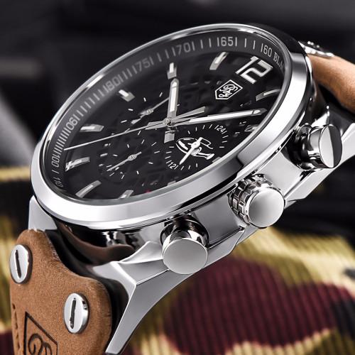 BENYAR Large dial design Chronograph Sport Mens Watches Fashion Brand Military waterproof Quartz Watch Clock Relogio Masculino