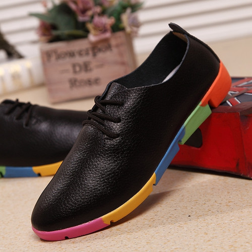 2018 new breathable genuine leather flats shoes woman sneakers tenis feminino nurse peas flats shoes plus size women shoes