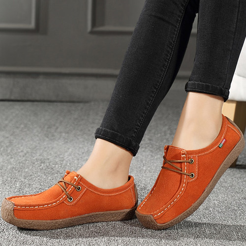 Loafers flats shoes woman folding moccasins foldable sneakers women flats tenis feminino genuine leather lace-up women shoes