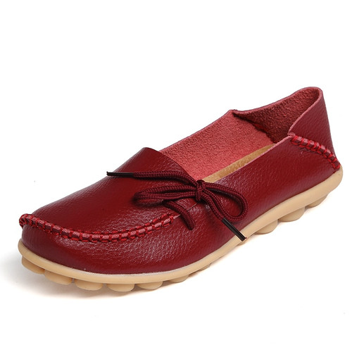 New Real Leather Women Flats Moccasins Loafers Ladies Shoes Wild Driving women Casual Shoes Leisure Concise Flat shoes ST179