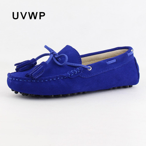 New Fashion Genuine Leather Women Flat Shoes Slip On Woman Loafers Women's Casual Shoes Flats Soft Moccasins Female Footwear