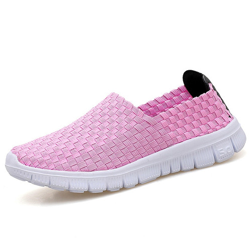 2018 New Women Flats Autumn Casual Shoes Breathable Female Woven Shoes Slip On Ladies Loafers Handmade Shoes