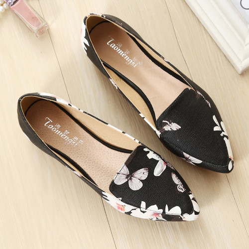 2018 women Casual shoes Tide wild flowers soft bottom flats large size women's shoes B112