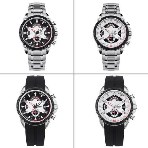 Montre Homme  CASIMA Luxury Brand Watches Men Stainless Steel Quartz watch Fashion Sports Wrist watches Luminous waterproof 100m