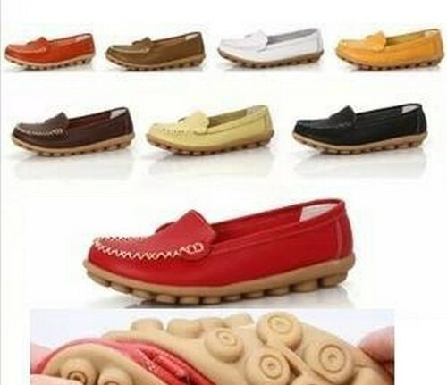 New 2018 Women genuine Leather Shoes Slip on women Flats Comfort shoes woman moccasins Spring summer Winter shoes