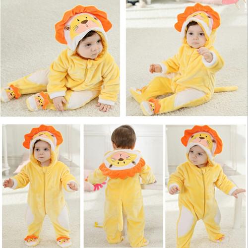 Baby rompers Newborn Cartoon Animal Winter Baby Boy Girl Overalls Christmas gift Coral Fleece Pijama roupa de bebe recem nascido
