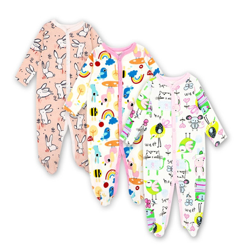 2/3Pcs/Lot100%Cotton baby rompers suit newborn baby girls boys clothes Long Sleeve Jumpsuit Playsuit Outfits Baby Clothing
