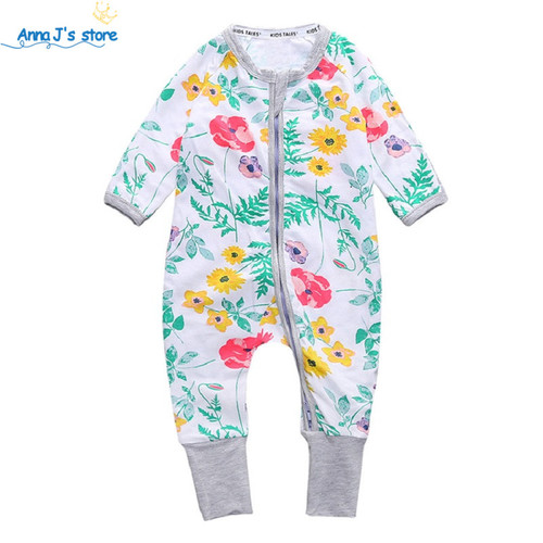2019 new girl's clothing cotton kids one pcs overalls pajamas newborn baby girl boys clothes suits bebes Baby rompers PPY-143