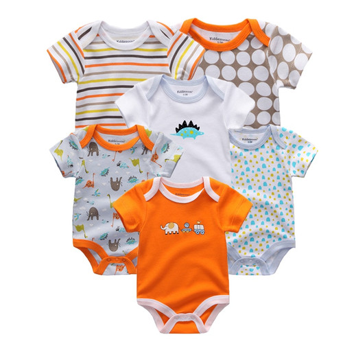 6 PCS/lot newbron 2018 summer short sleeve baby rompers cotton baby jumpsuit girls ropa bebe	 baby clothing sets